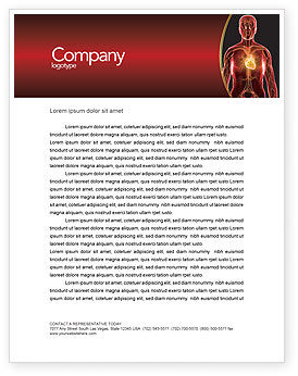 Medical: Blood Vascular System Letterhead Template #03930