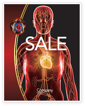 Medical: Blood Vascular System Sale Poster Template #03930