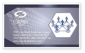 Technology, Science & Computers: Centralization Business Card Template #03933