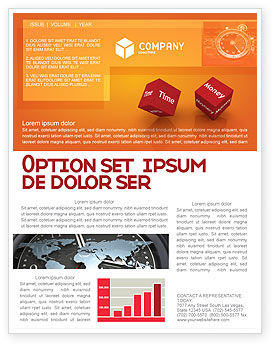 Risk Management Newsletter Template, 03934, Consulting — PoweredTemplate.com