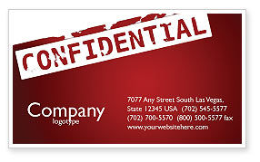 Careers/Industry: Private Business Card Template #03935