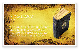 Christian Bible Business Card Template, 03936, Religious/Spiritual — PoweredTemplate.com
