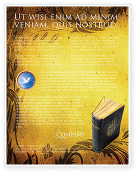 Christian Bible Flyer Template, 03936, Religious/Spiritual — PoweredTemplate.com