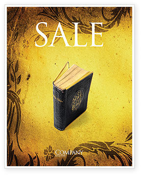 Christian Bible Sale Poster Template, 03936, Religious/Spiritual — PoweredTemplate.com