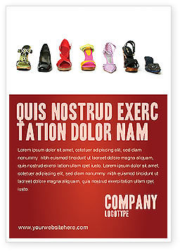Careers/Industry: Lady's Shoes Ad Template #03937