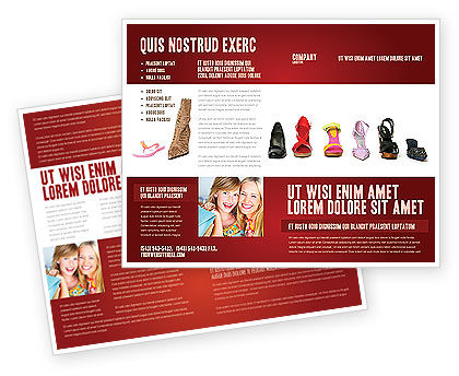 Lady's Shoes Brochure Template, 03937, Careers/Industry — PoweredTemplate.com