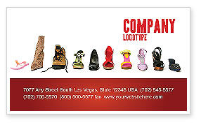 Careers/Industry: Lady's Shoes Business Card Template #03937