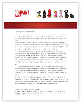 Lady's Shoes Letterhead Template, 03937, Careers/Industry — PoweredTemplate.com