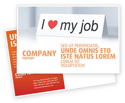 Consulting: Work Motivation Postcard Template #03938