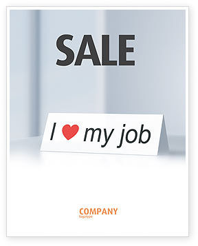 Work Motivation Sale Poster Template, 03938, Consulting — PoweredTemplate.com