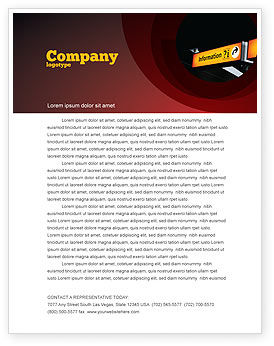 Information Bureau Letterhead Template, 03942, Consulting — PoweredTemplate.com