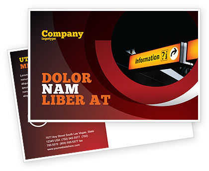 Consulting: Information Bureau Postcard Template #03942