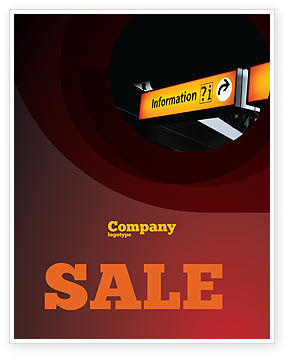 Consulting: Information Bureau Sale Poster Template #03942