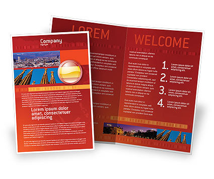 Flag Of Spain Brochure Template Design And Layout Download Now