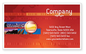 Flag of Spain Business Card Template