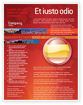 Flags/International: Flag of Spain Flyer Template #03943