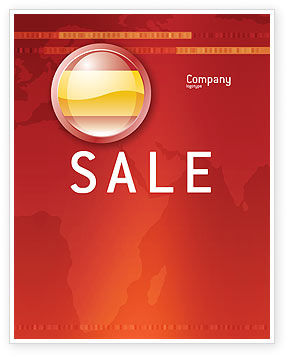 Flags/International: Flag of Spain Sale Poster Template #03943