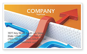 Non-standard Approach Business Card Template, 03948, Business Concepts — PoweredTemplate.com
