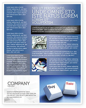 Business Concepts: Modèle de Flyer de commerce électronique #03949