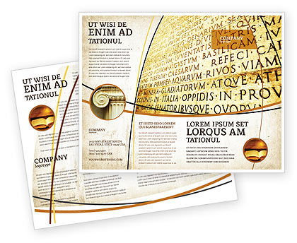 Flags/International: Latin Brochure Template #03950