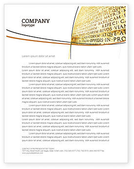 Flags/International: Latin Letterhead Template #03950