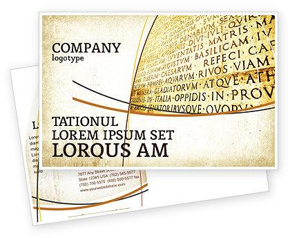Latin Postcard Template, 03950, Flags/International — PoweredTemplate.com