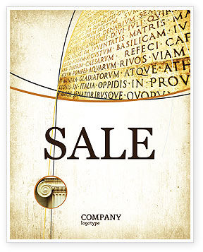 Latin Sale Poster Template