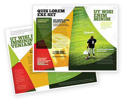 American Football In School Brochure Template Design And Layout