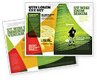 Sports: American Football in School Brochure Template #03952