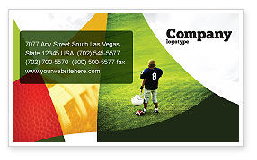 American Football in School Business Card Template, 03952, Sports — PoweredTemplate.com
