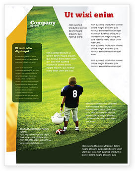 Sports: American Football in School Flyer Template #03952