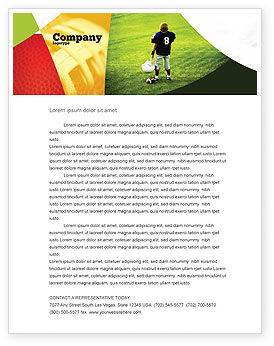 American Football in School Letterhead Template