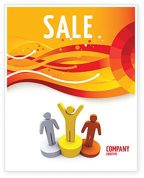 First Prize Sale Poster Template, 03953, Consulting — PoweredTemplate.com