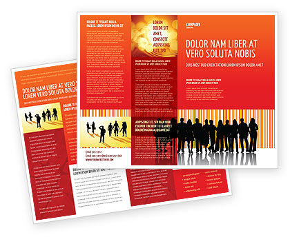 Sales Management Brochure Template, 03956, People — PoweredTemplate.com