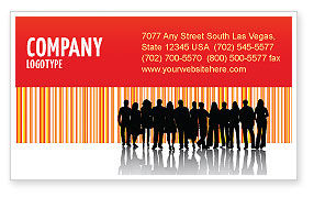 People: Sales Management Business Card Template #03956