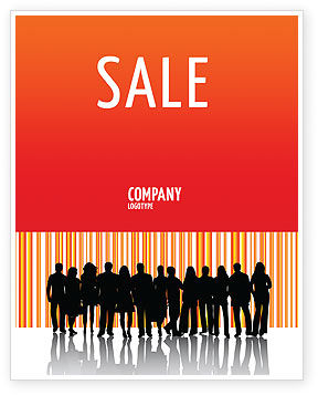 Sales Management Sale Poster Template, 03956, People — PoweredTemplate.com