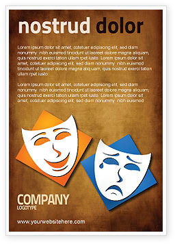 Drama Ad Template, 03957, Art & Entertainment — PoweredTemplate.com