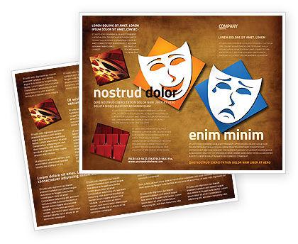 Drama Brochure Template, 03957, Art & Entertainment — PoweredTemplate.com