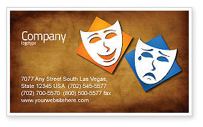 Art & Entertainment: Drama Business Card Template #03957
