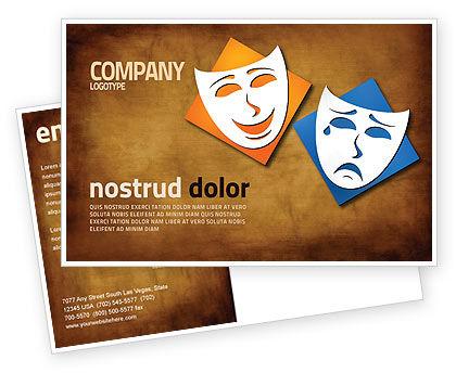 Drama Postcard Template, 03957, Art & Entertainment — PoweredTemplate.com