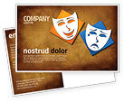 Art & Entertainment: Drama Postcard Template #03957