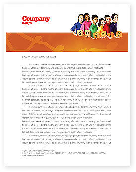 Education & Training: Eurosafe European Child Safety Alliance Letterhead Template #03960