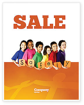 Eurosafe European Child Safety Alliance Sale Poster Template, 03960, Education & Training — PoweredTemplate.com