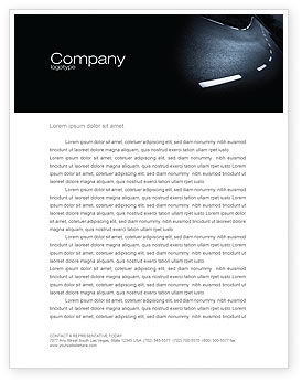 Cars/Transportation: Sharp Turn In A Highway Letterhead Template #03961