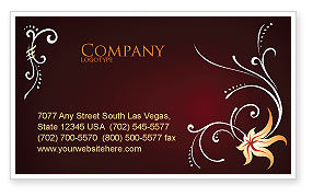 Ornament Business Card Template, 03962, Abstract/Textures — PoweredTemplate.com