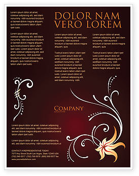 Abstract/Textures: Ornament Flyer Template #03962