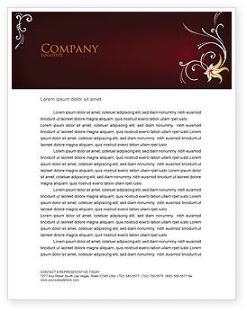 Ornament Letterhead Template, 03962, Abstract/Textures — PoweredTemplate.com