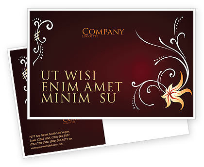 Ornament Postcard Template, 03962, Abstract/Textures — PoweredTemplate.com