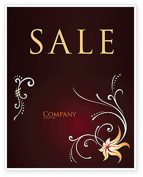Ornament Sale Poster Template, 03962, Abstract/Textures — PoweredTemplate.com