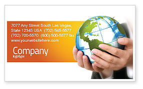 General: World Tendencies Business Card Template #03964